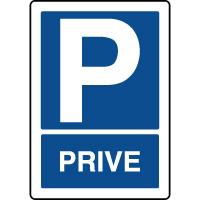 Panneau d'indication vertical de parking privé