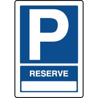 Panneau vertical parking réservé personnalisable
