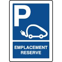 Panneau vertical emplacement réservé voitures électriques
