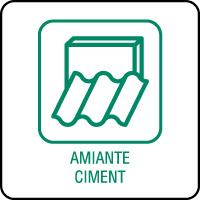 Panneau de tri sélectif amiante et ciment
