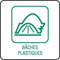Panneau de tri sélectif bâches plastiques