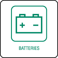 Panneau de tri sélectif batteries