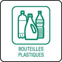 Panneau de tri sélectif bouteilles en plastique