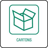 Panneau de tri sélectif cartons
