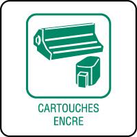 Panneau de tri sélectif cartouches d'encre