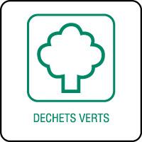 Panneau de tri sélectif déchets verts