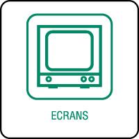 Panneau de tri sélectif écrans