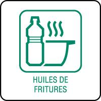 Panneau de tri sélectif huiles de fritures