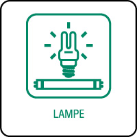 Panneau de tri sélectif lampe