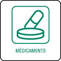 Panneau de tri sélectif médicaments