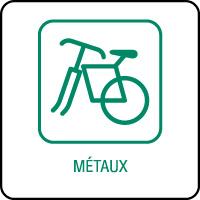 Panneau de tri sélectif métaux