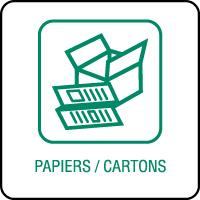 Panneau de tri sélectif papiers et cartons