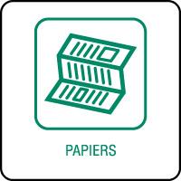 Panneau de tri sélectif papiers