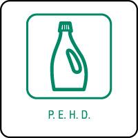 Panneau de tri sélectif PEHD