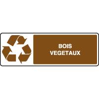 Panneau de tri sélectif horizontal bois et végétaux
