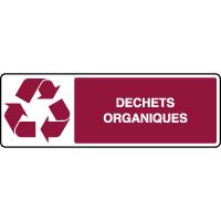 Panneau de tri sélectif horizontal déchets organiques