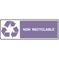 Panneau de tri sélectif horizontal non recyclable