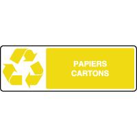 Panneau de tri sélectif horizontal papiers et cartons