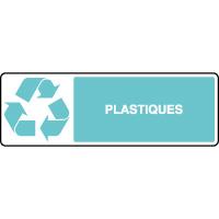 Panneau de tri sélectif horizontal plastiques
