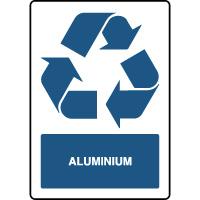 Panneau de tri sélectif vertical aluminium