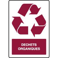 Panneau de tri sélectif vertical déchets organiques