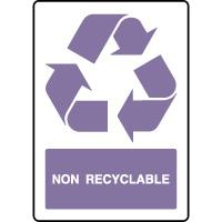 Panneau de tri sélectif vertical non recyclable