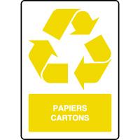 Panneau de tri sélectif vertical papiers et cartons