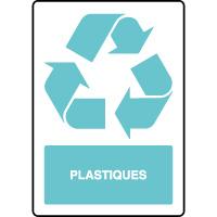 Panneau de tri sélectif vertical plastiques