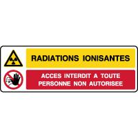 Panneau 2 symboles danger radiations ionisantes