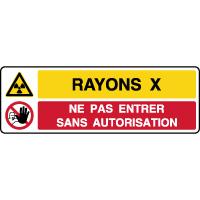 Panneau 2 symboles danger rayons X