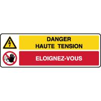Panneau combiné danger haute tension éloignez-vous