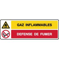 Panneau combiné danger gaz inflammables