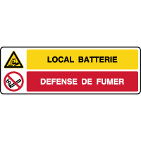 Panneau combiné danger local batterie