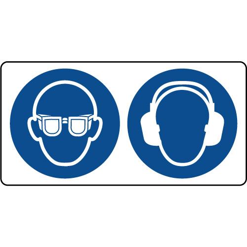 Panneau combiné port lunette et casque sécurité obligatoire ... af38c311712d