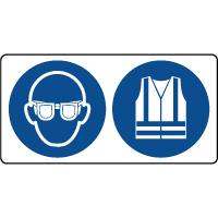 Panneau lunettes et vetements de sécurité obligatoire