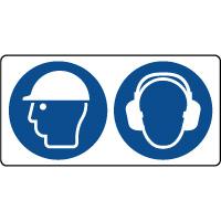 Panneau casque sécurité et casque anti-bruit obligatoire