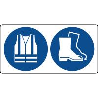 Panneau vêtement et chaussures sécurité obligatoire