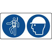 Panneau équipement et casque sécurité obligatoire