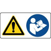 Panneau combiné danger lire la notice obligatoire