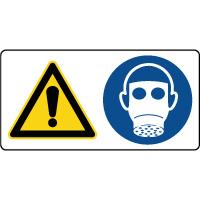 Panneau combiné danger protection respiratoire obligatoire