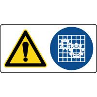 Panneau combiné danger vérifier les protections