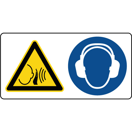 panneau danger bruit fort casque anti bruit obligatoire. Black Bedroom Furniture Sets. Home Design Ideas