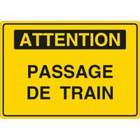 Panneau attention passage de train