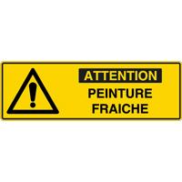 Panneau pictogramme attention peinture fraîche