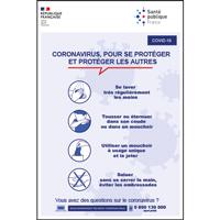 Panneau consignes coronavirus bien se protéger