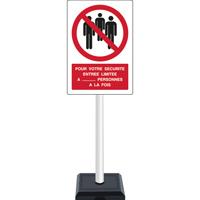 Panneau avec support entrée autorisée limitée