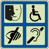 Panneau photoluminescent multi-handicap