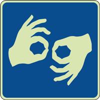 Panneau photoluminescent langue des signes