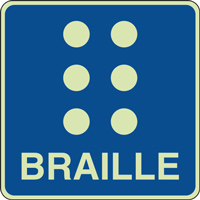 Panneau photoluminescent braille