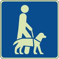 Panneau photoluminescent chien guide